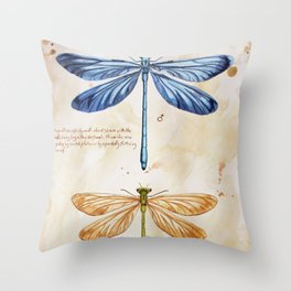 Science art insect art Throw Pillow