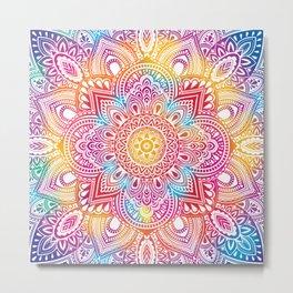 Madala Ombre Colorful Metal Print