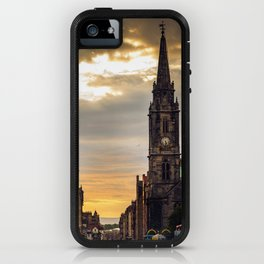 Royal Mile Sunrise in Edinburgh, Scotland iPhone Case