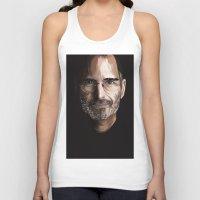 steve jobs Tank Tops featuring Steve Jobs by Misha Libertee