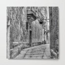 Streets Of Mdina Malta Metal Print