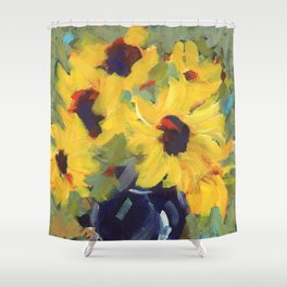 Sage and Sunflowers Shower Curtain