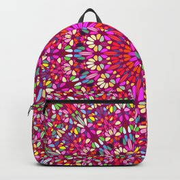 Magical Floral Garden in Happy Colors Backpack