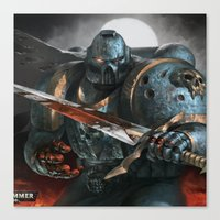 warhammer Canvas Prints featuring Warhammer Soldier by Tom Lee