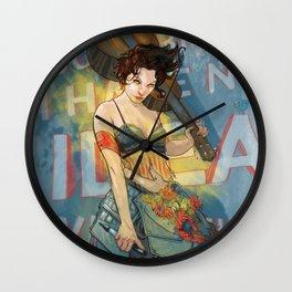 Knight of Wands (Amanda Palmer) Wall Clock