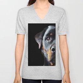 Rottie Love - Rottweiler Art By Sharon Cummings Unisex V-Neck