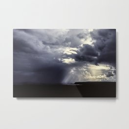 Stormy sky over Thingvellir, Iceland Metal Print