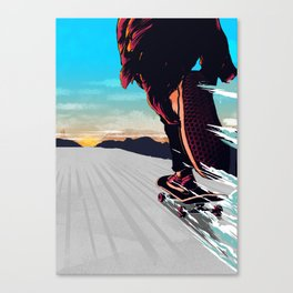 Keep  On Pushin' Canvas Print