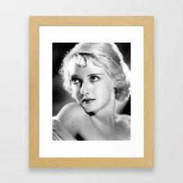 Bette Davis Eyes, Hollywood Starlet black and white photograph / black and white photography Framed Art Print