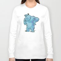 "monsters inc Long Sleeve T-shirts featuring Monsters, Inc. | James P. ""Sulley"" Sullivan by Brave Tiger Designs"