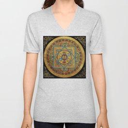 Buddhist Hindu Mandala 23 Unisex V-Neck