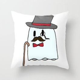 Dapper Ghost Throw Pillow