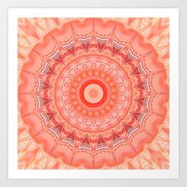Mandala soft orange 3 Art Print