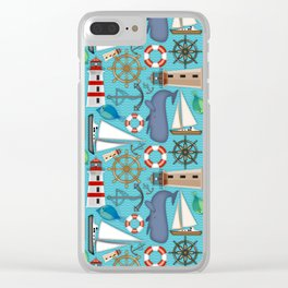 Nautical Goodies Clear iPhone Case