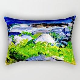 Vine Clad Shore, Monhegan Island by George Bellows Rectangular Pillow