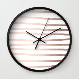 Simply Drawn Stripes Moon Dust Bronze Wall Clock