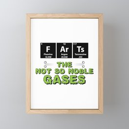 Farts The Not So Noble Gases Gift Framed Mini Art Print