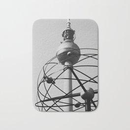 Berlin World Clock Bath Mat