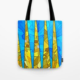 Colorful modern abstract Tiffany style print Tote Bag