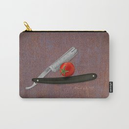 straight razor and tomato Carry-All Pouch