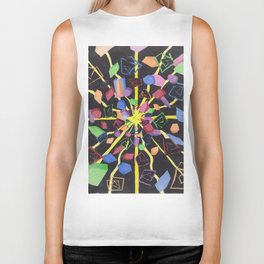 On edge #3 #watercolor #art #decor #society6 Biker Tank