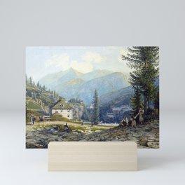 Thomas Ender View of the Residence of Archduke Johann in Gastein Hot Springs Mini Art Print