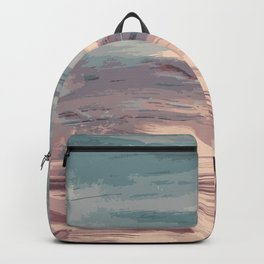 Abstract Sunset Beach Waves Backpack