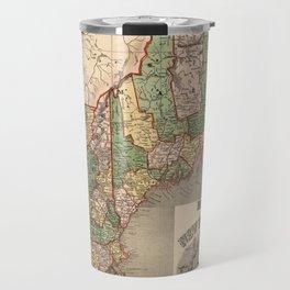 Map of New England 1847 Travel Mug