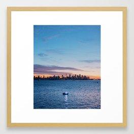 Sunset in Sydney Framed Art Print