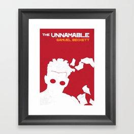 The Unnamable - Samuel Beckett Framed Art Print