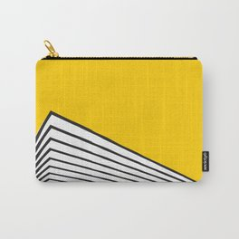 Minimal geometric building city - yellow/black Carry-All Pouch
