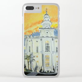 St George Utah LDS Temple Clear iPhone Case