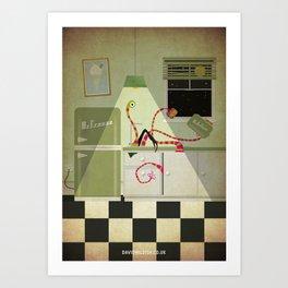 Kreepy-Kitchen Art Print