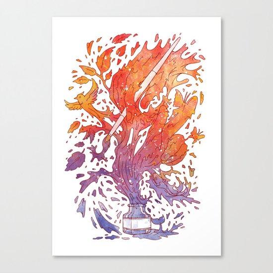 draw itself Canvas Print