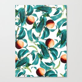 Fruit and Leaf Pattern Canvas Print