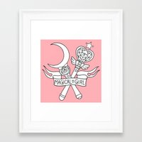magical girl Framed Art Prints featuring Magical Girl by Bunnymachine