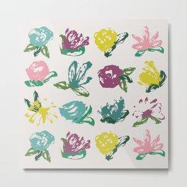 Floral Brush Bouquet Metal Print