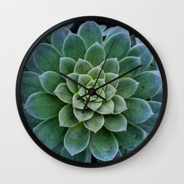 Shades of Succulent Green Wall Clock