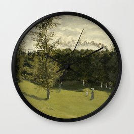 Train in the Countryside Wall Clock