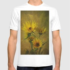 Let the Sun Shine MEDIUM Mens Fitted Tee White