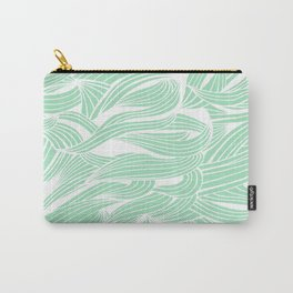 Seafoam & White Carry-All Pouch