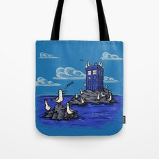The Seagulls have the Phonebox Tote Bag