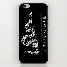 Join or Die in Black and White iPhone & iPod Skin