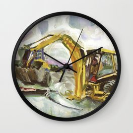 Blue whale on Second Beach, dissection with back-hoe, No. 4 - Middletown Wall Clock