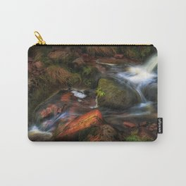 Colours of Autumn in a Brecon stream Carry-All Pouch