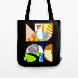 Music Typography Tote Bag