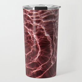 Dark Pink Light Ray Travel Mug