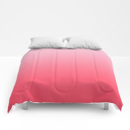 Ombre Pink Rose Gradient Pattern Comforters