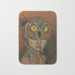 stare of an owl Bath Mat