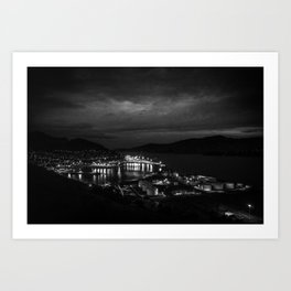 Harbour Night Sky Art Print